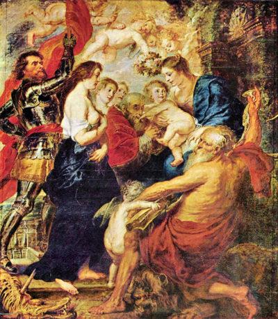 Peter Paul Rubens Madonna with Saints