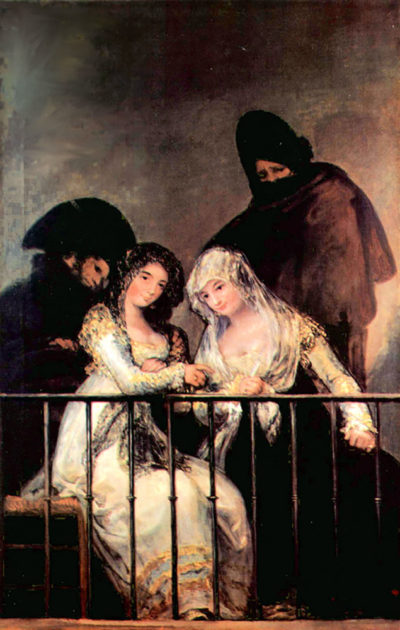 Francisco Goya Majas on a Balcony