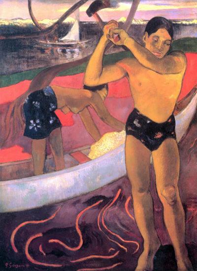 Paul Gauguin Man with Ax