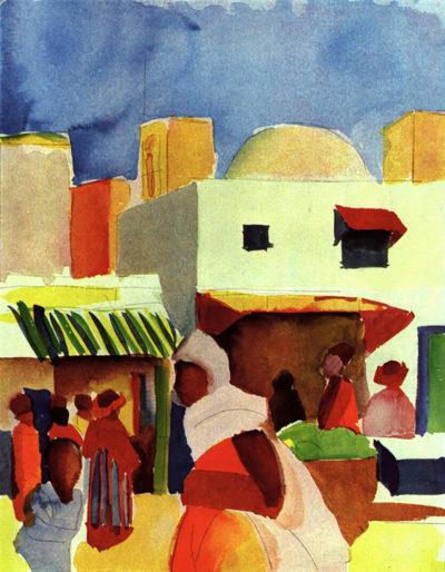 August Macke Market in Algier