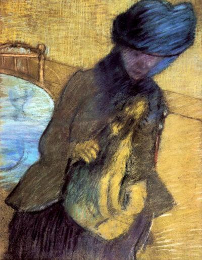 Edgar Degas Mary Cassatt with her dog