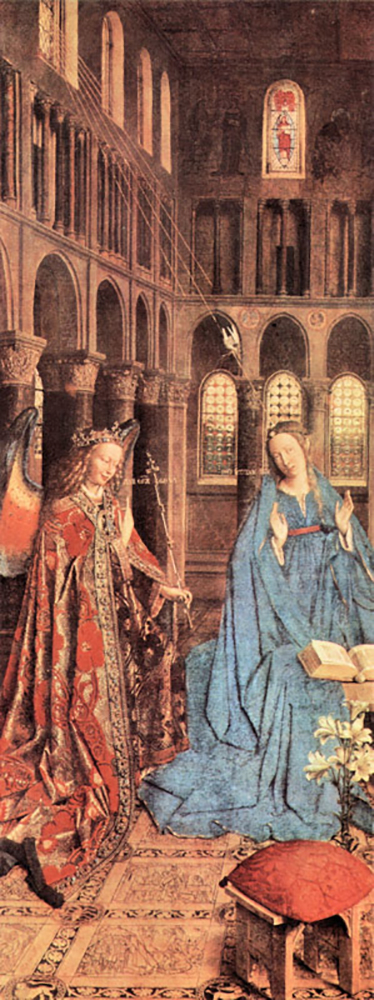 Jan van Eyck Mary's Proclamation