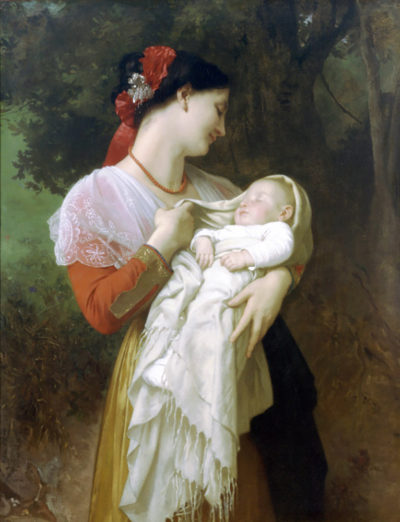 William-Adolphe Bouguereau Maternal Admiration