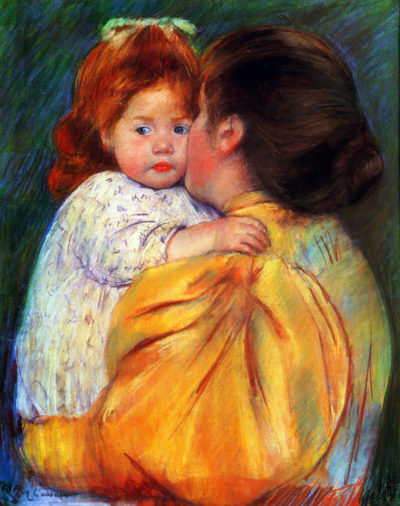 Mary Cassatt Maternal Kiss 1896