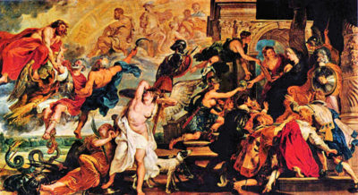 Peter Paul Rubens Medici's and the Apotheosis of Henry IV