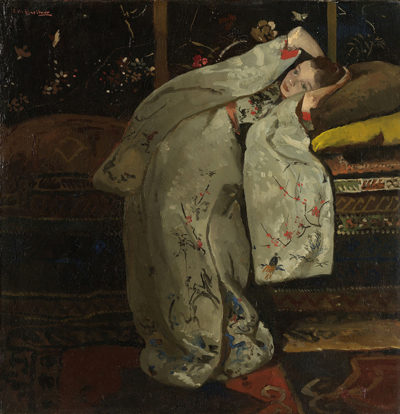 George Hendrik Breitner Girl in a White Kimono