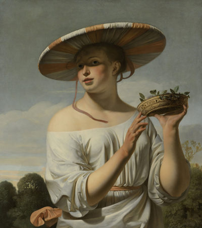 Caesar Boëtius van Everdingen Girl in a Large Hat