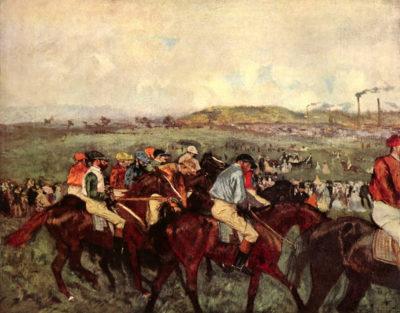 Edgar Degas Men's riders before the start
