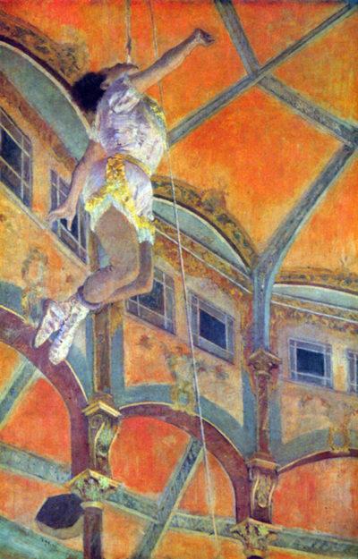 Edgar Degas Miss Lala in Circus Fernando