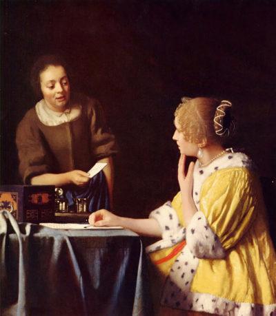 Johannes Vermeer Mistress and maid