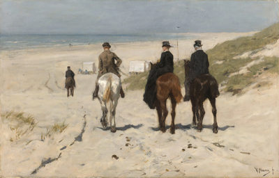 Anton Mauve Morning Ride along the Beach