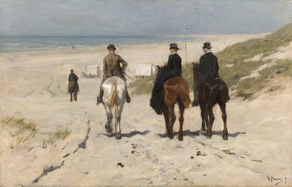 Anton Mauve Morning Ride along the Beach