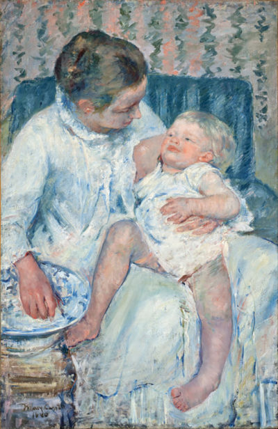 Mary Cassatt Mother About to Wash Her Sleepy Child