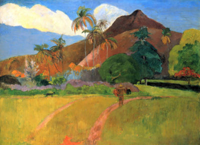 Paul Gauguin Mountains in Tahiti
