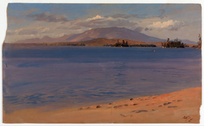 Frederic Edwin Church Mt Katahdin from Lake Millinocket