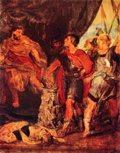Peter Paul Rubens Mucius Scaevola before Porsenna