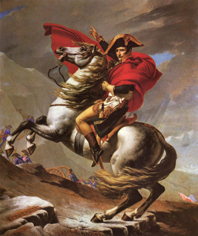 Jacques-Louis David Napoleon crosses the great St. Bernard Pass