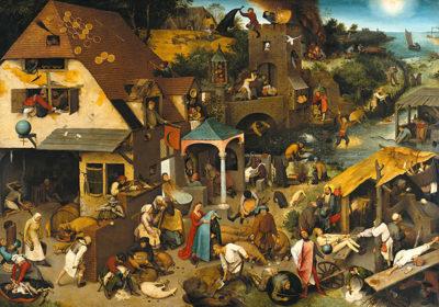 Pieter Bruegel de Oude Netherlandish Proverbs