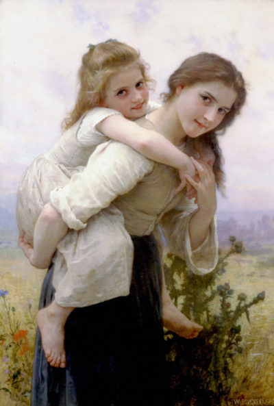William-Adolphe Bouguereau Not Too Much To Carry