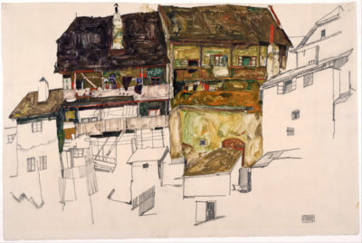 Egon Schiele Old Houses in Krumau