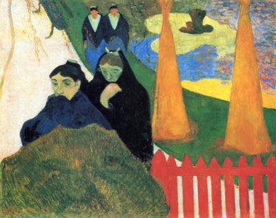 Paul Gauguin Old Maids in a Winter Garden - Arles