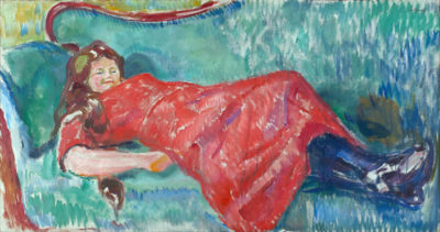 Edvard Munch On the Sofa