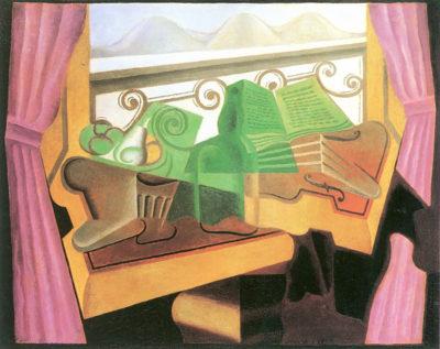 Juan Gris Open windows with hills