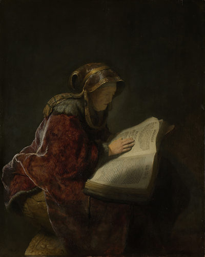 Rembrandt Harmensz. van Rijn An Old Woman Reading