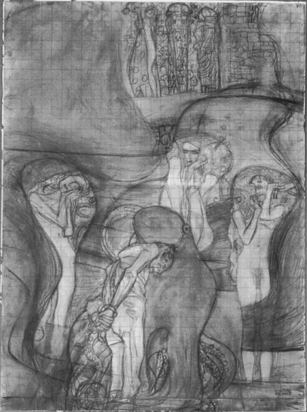 Gustav Klimt Painted Composition Draft Jurisprudenz