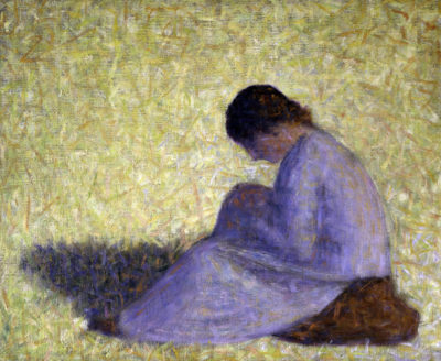 George Seurat Peasant Woman Seated in the Grass