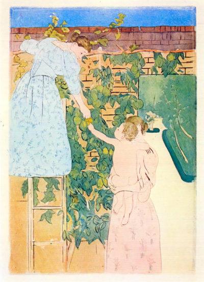 Mary Cassatt Picking Fruit