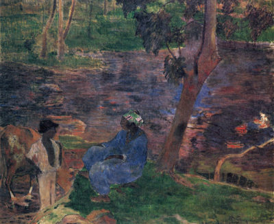 Paul Gauguin Pond Shore