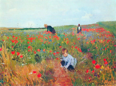 Mary Cassatt Poppy in the field