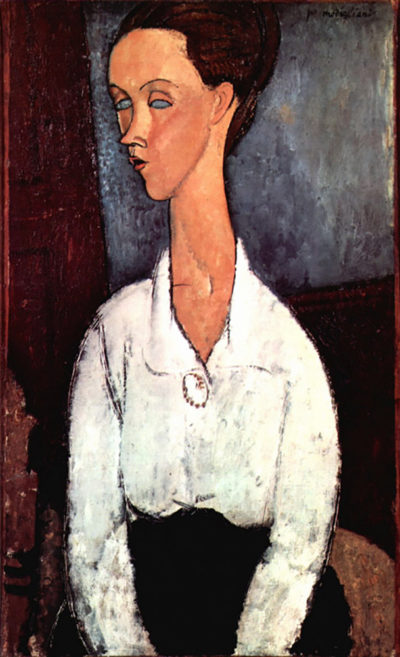 Amedeo Clemente Modigliani Portrait Of Lunia Czechowska In White Blouse