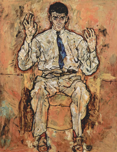 Egon Schiele Portrait of Albert Paris von Gütersloh