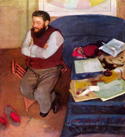 Edgar Degas Portrait of Diego Martelli