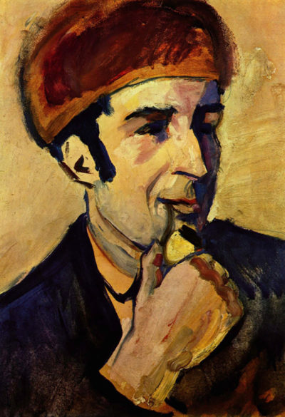 August Macke Portrait of Franz Marc