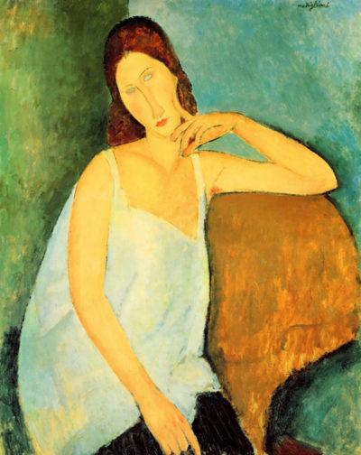 Amedeo Clemente Modigliani Portrait of Jeanne Hebuterne