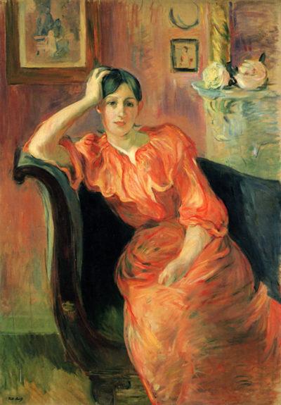 Berthe Morisot Portrait of Jeanne Pontillon