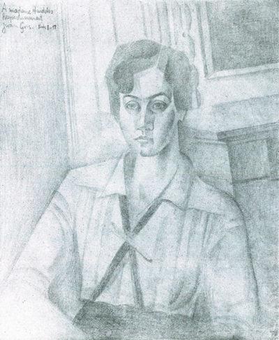 Juan Gris Portrait of Madame Hiudobro