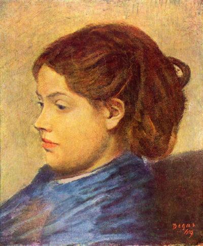 Edgar Degas Portrait of Mademoiselle Dobigny
