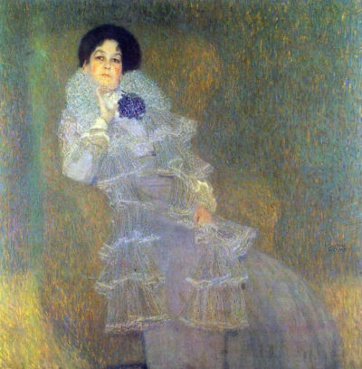 Gustav Klimt Portrait of Marie Henneberg (portrait in purple)