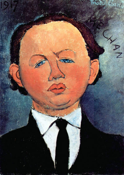 Amedeo Clemente Modigliani Portrait of Mechan