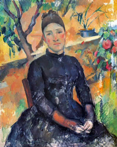 Paul Cézanne Portrait of Mme Cézanne in the greenhouse