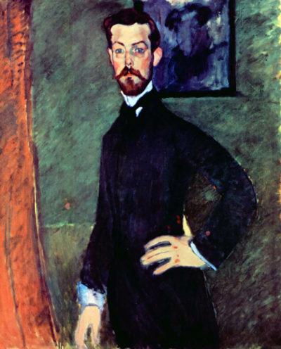 Amedeo Clemente Modigliani Portrait of Paul Alexandre before a green background