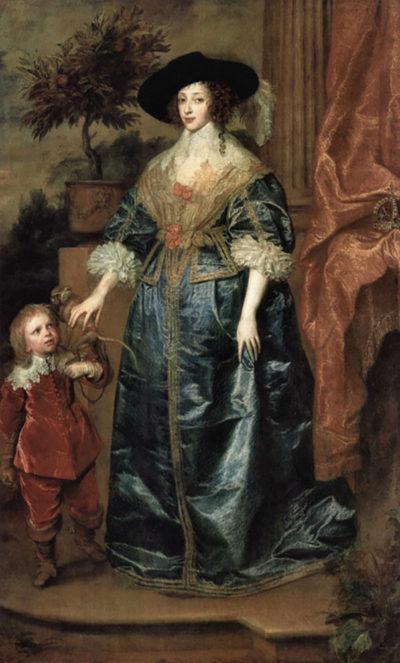 Antoon van Dyck Portrait of Queen Henrietta Maria