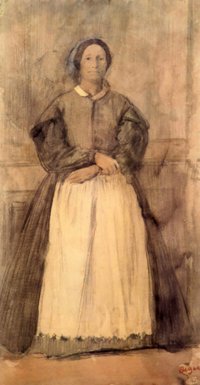 Edgar Degas Portrait of Rosa Adelaida Morbilli