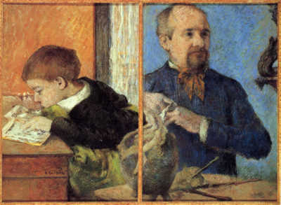 Paul Gauguin Portrait of Sculptor with Son