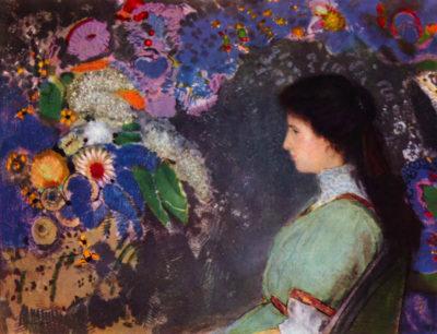 Odilon Redon Portrait of Violet Heymann