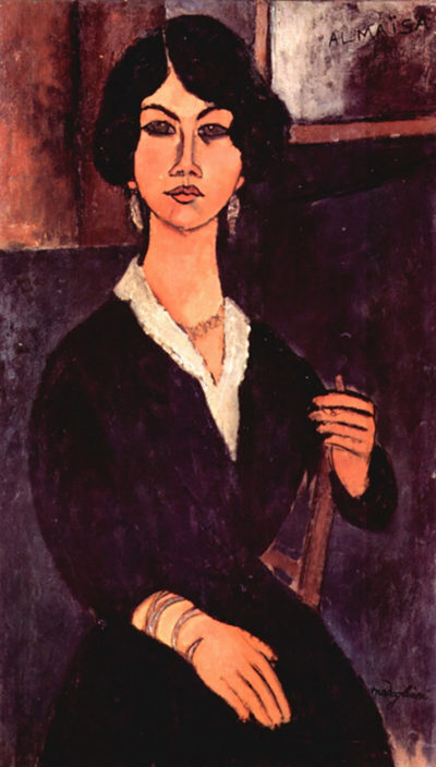 Amedeo Clemente Modigliani Portrait of a sitting woman